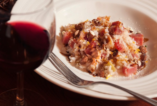 Beet-and-apple risotto at Acre