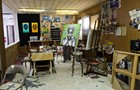 Behold a remarkable re-creation of Ed Paschke's art studio