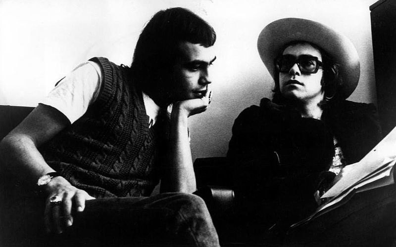Bernie Taupin and Elton John in 1971