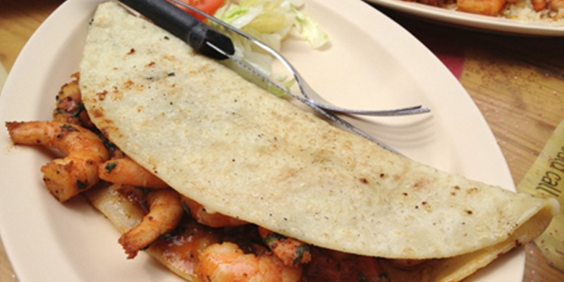 Best Cheesy Shrimp Quesadilla