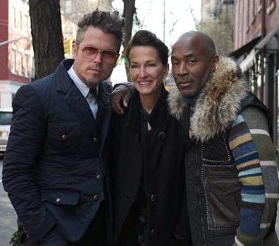 Bill Powers, Cynthia Rowley, and SAIC fashion chair Nick Cave