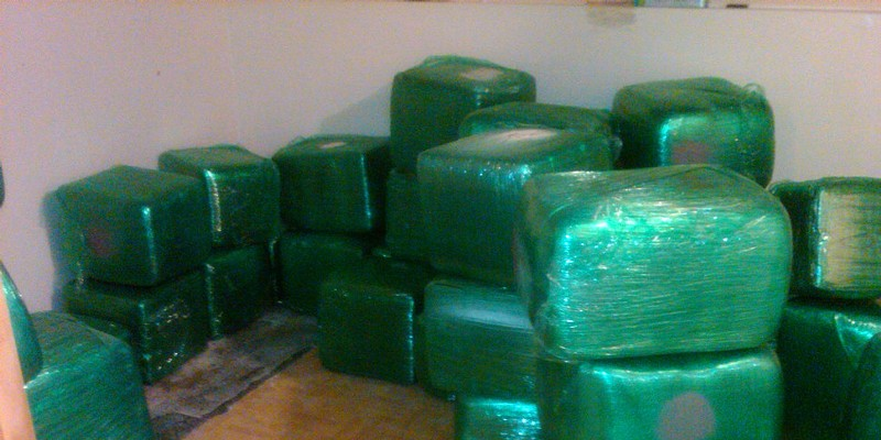 Blocks of cannabis seized by Chicago police in April