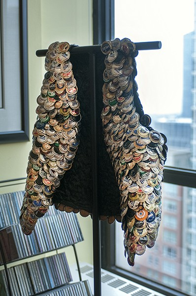 Bottle cap vest by Gregory Warmack, aka Mr. Imagination