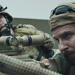 Bradley Cooper is number one with a bullet in American Sniper