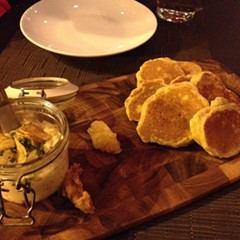 Brandade and blini (and corn cakes) at Lincoln Square's Gather