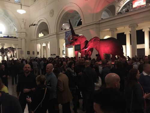 Carl Akeleys fighting African Elephants, Sue the T-Rex, and a pterodactyl presided over the Lively Water Whiskey Festival