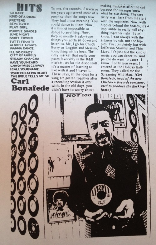 Carl Bonafedes Reader feature in the 70s by Marc PoKempner