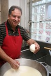 Carmelo Pugliese makes mozzarella at Riviera Italian Imports