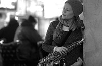 Caroline Davis, a saxophonist 20 years in the making