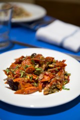 Carrot caponata is a textbook example of the importance of simplicity in good Italian food. - AMANDA AREIAS
