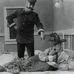 Charlie Chaplin's The Fireman screens in a program of silent comedy shorts on June 14.