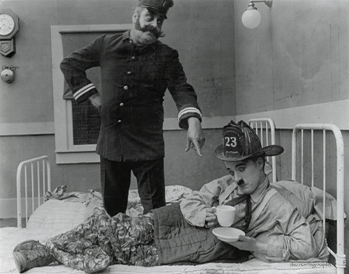 Charlie Chaplins The Fireman screens in a program of silent comedy shorts on June 14.
