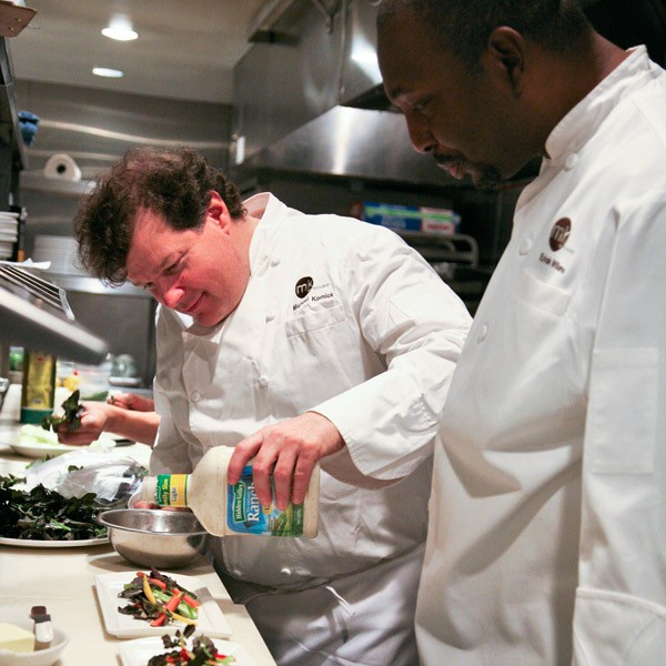 Chefs Michael Kornick and Erick Williams at MK