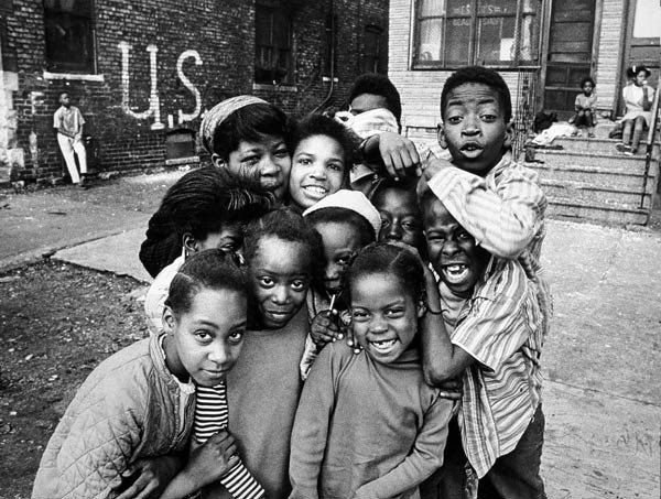 """Chicago Kids from the 1973 """"Through Eyes of Blackness"""" exhibit"""