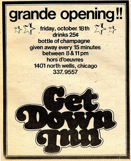 Chicago Reader @ Forty ads from the past: Get Down Inn