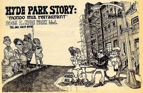 Chicago Reader @ Forty ads from the past: Mondo Mia Resaurant, Hyde Park