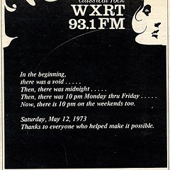 Chicago Reader @ Forty ads from the past: WXRT