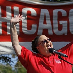 Chicago Teachers Union president Karen Lewis has suspended her mayoral campaign to address health problems. A certain political columnist is hoping she can still give Mayor Emanuel fits.