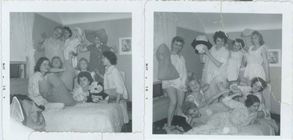 Chicago's Pink Ladies at a sleepover.