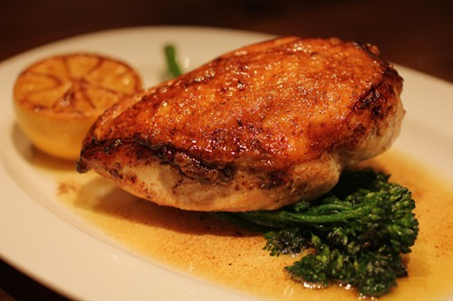 Chicken Mario, with rapini