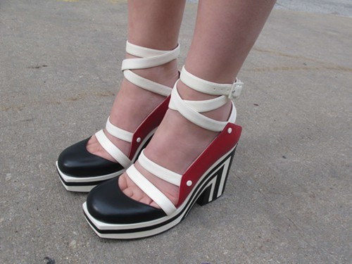 Claires pair of geometric Chanel shoes