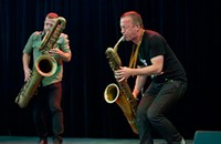 The blustery blowouts of saxophonists Colin Stetson and Mats Gustafsson