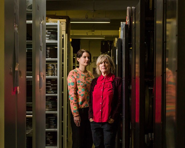 Collections manager Anne Wells and executive director Nancy Watrous - LUCY HEWETT