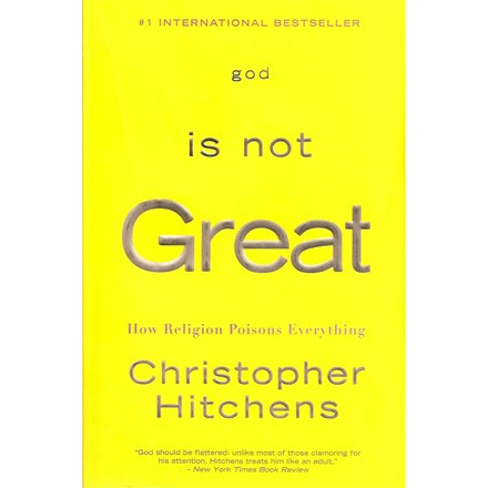 [Cover image: Christopher Hitchens's God Is Not Great]
