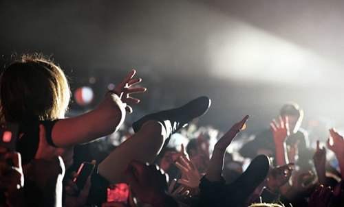 Crowd surf toward the light. Youre going to a better place.