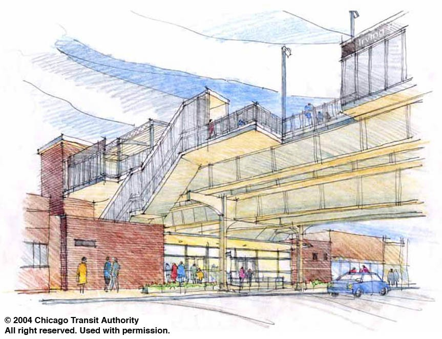 CTA rendering of Irving Park station
