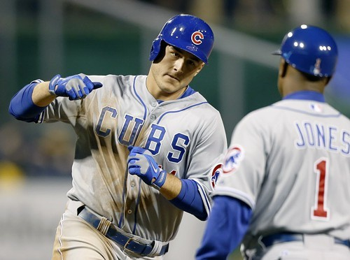 Cubs first baseman Anthony Rizzo homered to give the Cubs the lead in the 12th, but the team couldnt hold it.
