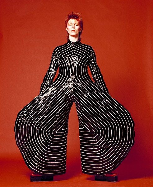 David Bowie in a Kansai Yamamoto jumpsuit from the Aladdin Sane tour - MASAYOSHI SUKITA / COURTESY DAVID BOWIE ARCHIVE