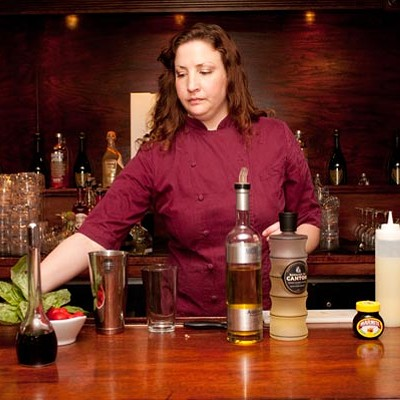 "Cocktail Challenge: the Drawing Room's Cristiana DeLucca does her damnedest to ""mask"" Marmite"