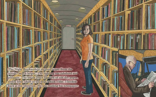 "Detail from Audrey Niffenegger's ""The Night Bookmobile"""