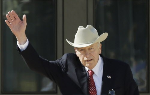 Dick Cheney sort of dressed as a cowboy