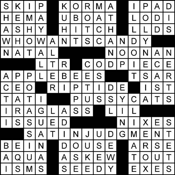 [Do I Have to Spell It Out? crossword solution]