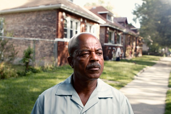 Duffie Clark, on the back of the Yards street where his family lived in the early 70s. - JEFFREY MARINI