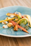 Carrots—with a sponge made from lamb's quarters and gel from foraged wild carrot flowers—almost never taste like this.