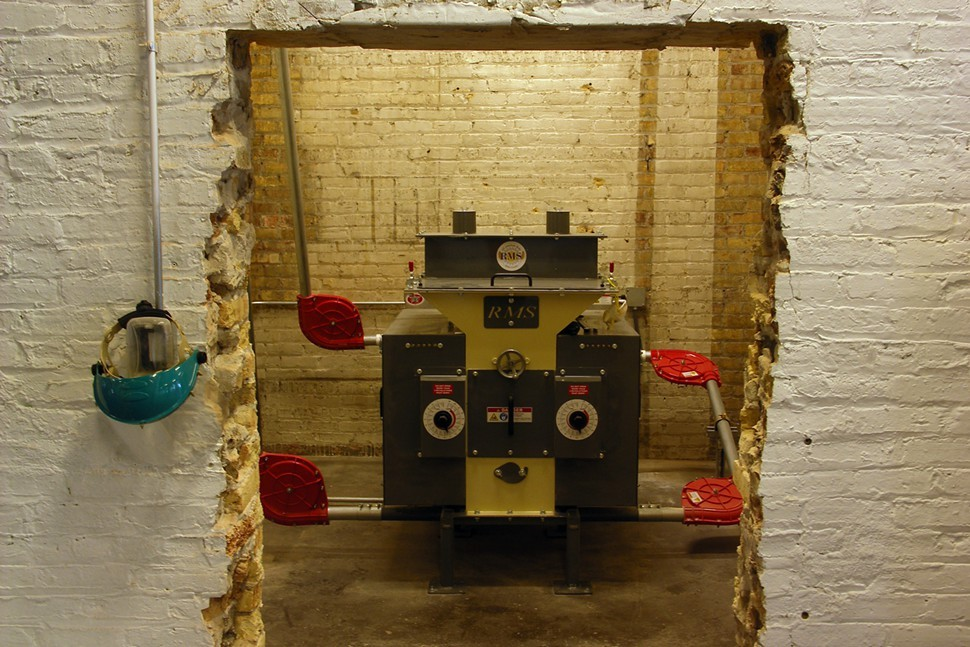 Empiricals grain mill lives in a little cave, presumably because it has been naughty.