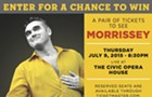 Enter for a chance to see Morrissey at the Civic Opera House