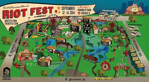 Exclusive Announcement The 2014 Riot Fest Schedule Bleader
