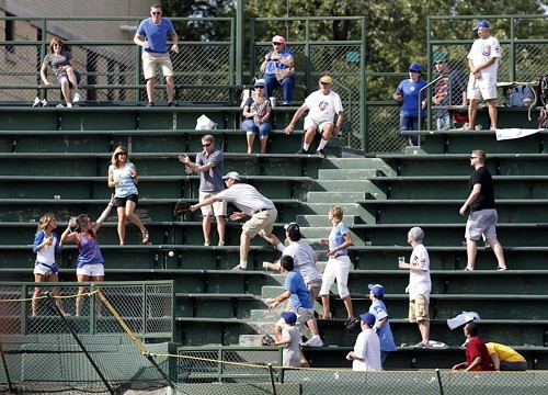 Fans are still chasing home run balls at Wrigley.
