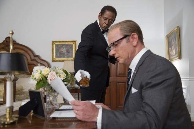 Forest Whitaker and Liev Schreiber in The Butler
