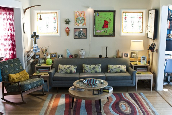 Freivogel's bright and colorful living room