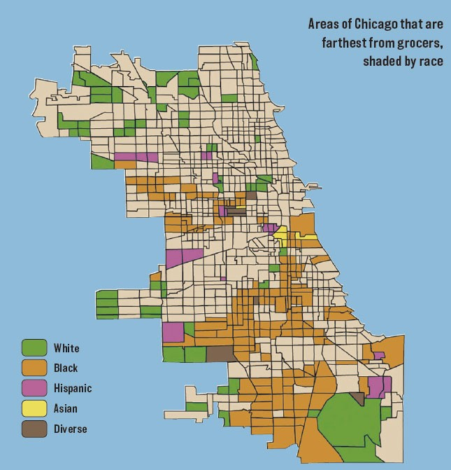 food deserts in chicago A new study from researchers at the university of chicago shows that despite an increase of supermarkets across chicago, low-income neighborhoods have not reaped the benefits the study published in the july issue of the journal health & place contributes to a growing body of research on food.