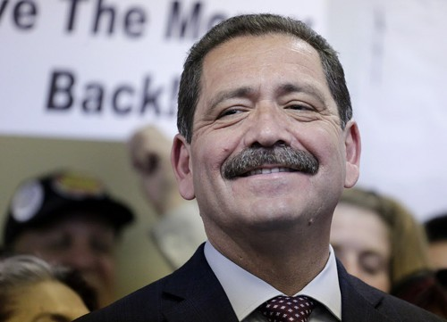 Garcia yesterday, at his campaign office.