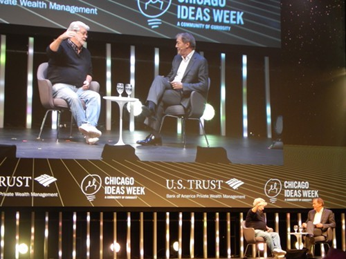 George Lucas talks museums with Charlie Rose at Chicago Ideas Week