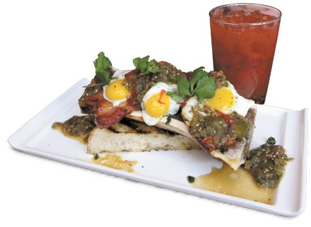 Ghost pepper Bloody Mary with quail-egg rancheros