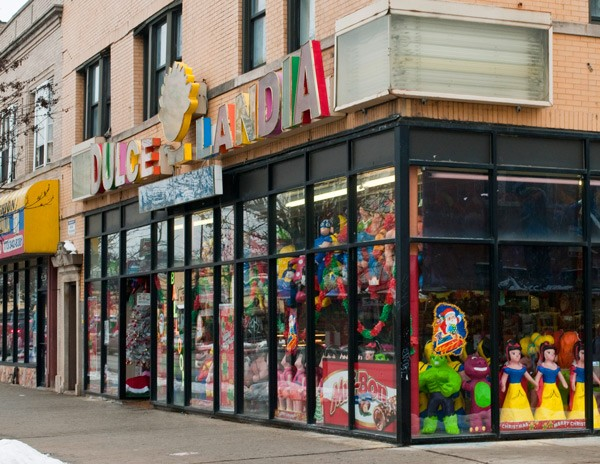 Giant pinatas and mounds of candy await your perusal.