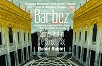 Gig poster of the week: A courtyard murder with Barbez